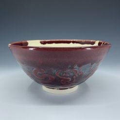 Burgundy bowl