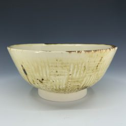 Bowl - Cream basketweave relief