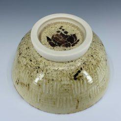 Bowl - Cream basketweave relief