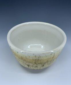 Bowl - Striated Cream & White
