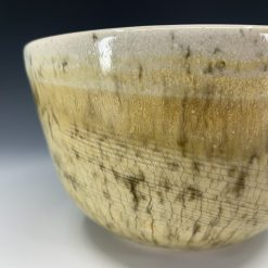 Bowl - Striated Cream & White