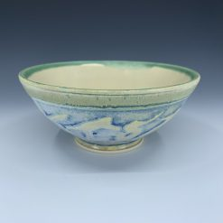 Bowl - Cream Blue & Green