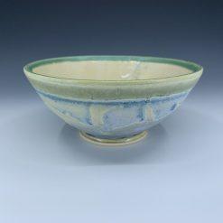 Bowl - Cream Blue & Green