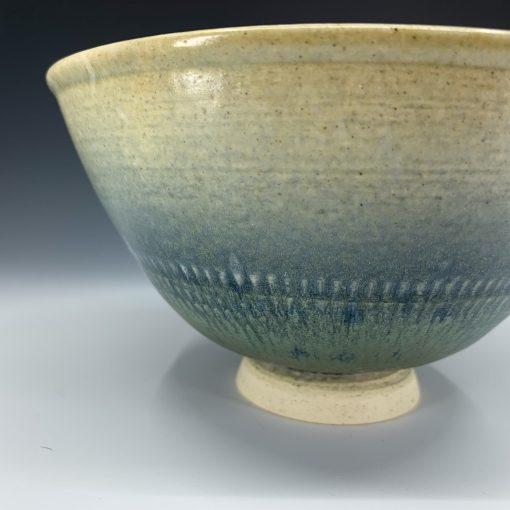 Bowl - Cream and Blue