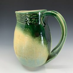 Green Pitcher with twisted handle